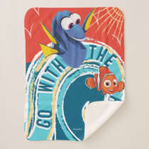 Dory & Nemo | Go with the Flow Sherpa Blanket