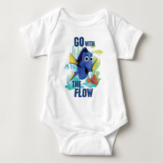 Dory & Nemo | Go with the Flow Watercolor Graphic Baby Bodysuit