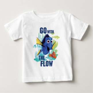 Dory & Nemo | Go with the Flow Watercolor Graphic Baby T-Shirt