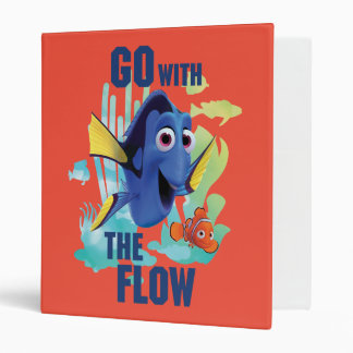 Dory & Nemo   Go with the Flow Watercolor Graphic Binder