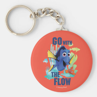 Dory & Nemo   Go with the Flow Watercolor Graphic Keychain