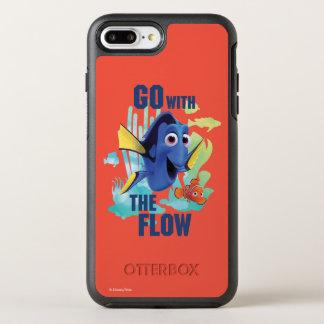 Dory & Nemo | Go with the Flow Watercolor Graphic OtterBox Symmetry iPhone 8 Plus/7 Plus Case