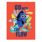 Dory & Nemo | Go with the Flow Watercolor Graphic Postcard