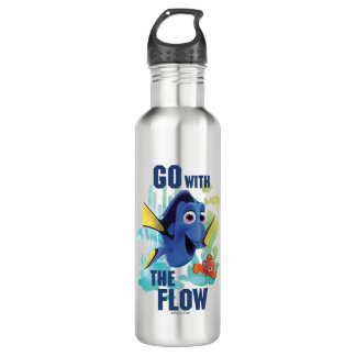 Dory & Nemo | Go with the Flow Watercolor Graphic Water Bottle