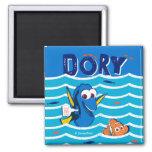 Dory & Nemo Love to Swim 2 Inch Square Magnet