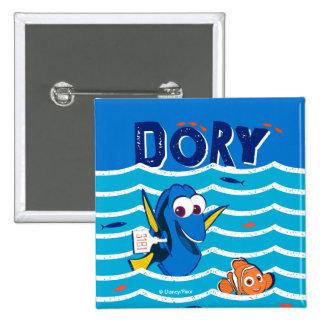 Dory & Nemo Love to Swim Pinback Button
