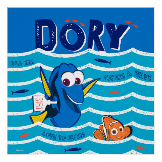 Dory & Nemo Love to Swim Poster