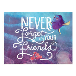 Dory & Nemo   Never Forget Your Friends Postcard