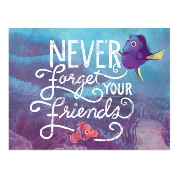 Disney Themed Dory & Nemo | Never Forget Your Friends Postcard