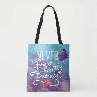 Dory & Nemo | Never Forget Your Friends Tote Bag