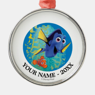 Dory & Nemo | Swim With Friends Add Your Name Metal Ornament
