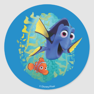 Dory & Nemo | Swim With Friends Classic Round Sticker