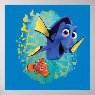 Dory & Nemo   Swim With Friends Poster