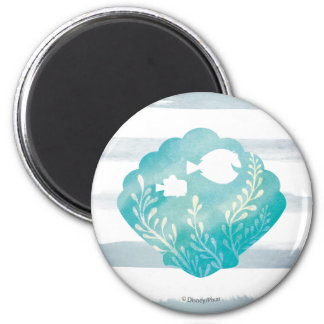 Dory & Nemo | Watercolor Shell Graphic 2 Inch Round Magnet