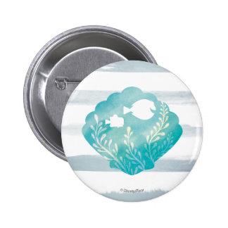 Dory & Nemo   Watercolor Shell Graphic Button