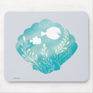 Dory & Nemo | Watercolor Shell Graphic Mouse Pad