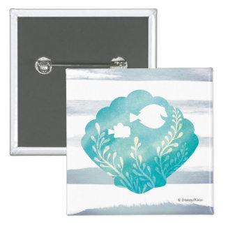 Dory & Nemo   Watercolor Shell Graphic Pinback Button