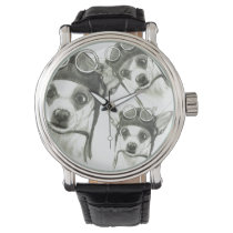 Dory the ChiWee(Tiny Chihuahua) by Carol Zeock Wrist Watch