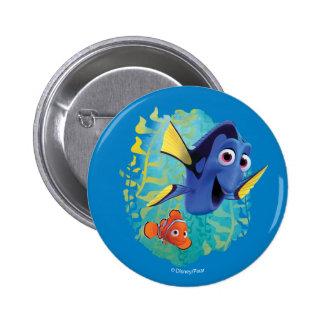 Dory y nadada de Nemo el | con los amigos Pin Redondo De 2 Pulgadas