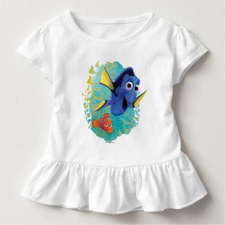 Dory y nadada de Nemo el | con los amigos Playera De Bebé