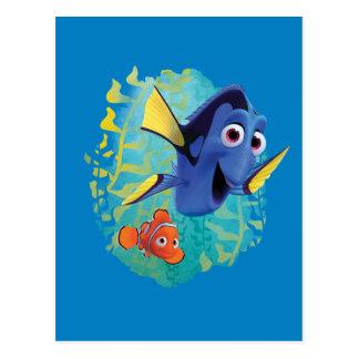 Dory y nadada de Nemo el   con los amigos Postal