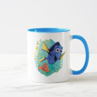 Dory y nadada de Nemo el | con los amigos Taza