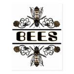 dos abejas con el trébol trans1 postal