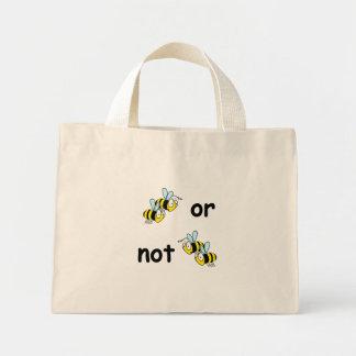 Dos abejas o bolso de no dos abejas bolsa tela pequeña