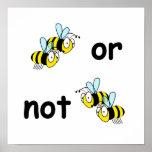 Dos abejas o no dos abejas impresiones