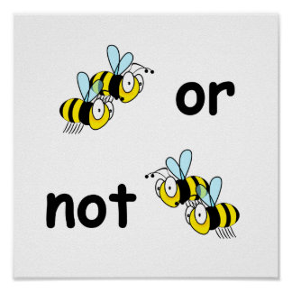 Dos abejas o no dos abejas póster
