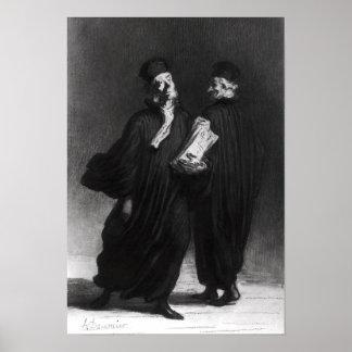 Dos abogados, c.1862 póster