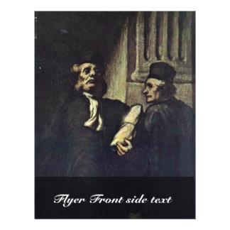 Dos abogados, por Honoré Daumier Tarjeta Publicitaria