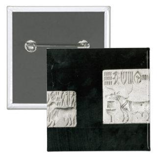 Dos adornaron los sellos que representaban un cebú pin cuadrada 5 cm
