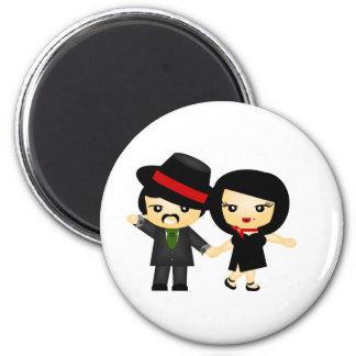 Dos al tango imán redondo 5 cm