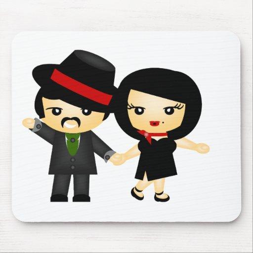 Dos al tango tapete de ratón