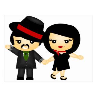 Dos al tango tarjeta postal