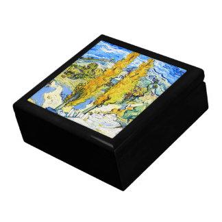 Dos álamos en una colina Vincent van Gogh Cajas De Recuerdo