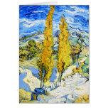 Dos álamos en una colina Vincent van Gogh Tarjeton