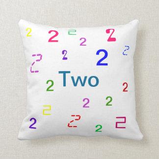Dos almohada - almohada de tiro decorativa del