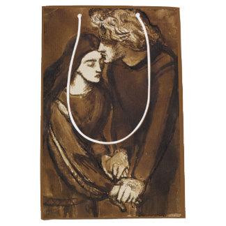 Dos amantes de Dante Gabriel Rossetti Bolsa De Regalo Mediana