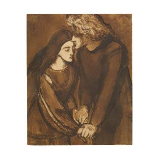 Dos amantes de Dante Gabriel Rossetti Cuadro De Madera