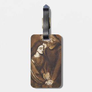 Dos amantes de Dante Gabriel Rossetti Etiqueta Para Equipaje