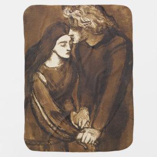 Dos amantes de Dante Gabriel Rossetti Manta De Bebé