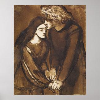 Dos amantes de Dante Gabriel Rossetti Póster