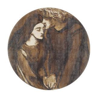 Dos amantes de Dante Gabriel Rossetti Tabla De Cortar