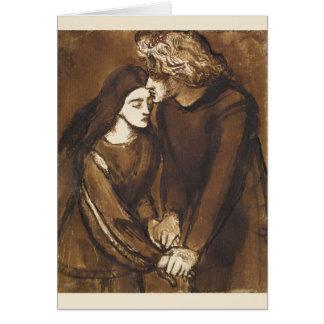 Dos amantes de Dante Gabriel Rossetti Tarjeta De Felicitación
