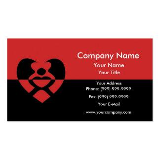 Dos amantes en un corazón tarjetas de visita