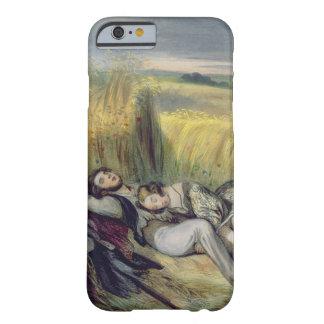 Dos amantes que mienten en un campo de maíz funda barely there iPhone 6