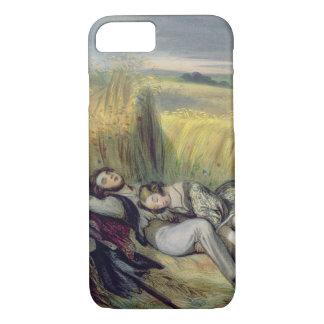 Dos amantes que mienten en un campo de maíz funda iPhone 7