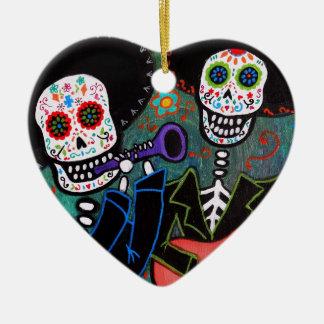 Dos Amigos Dia de los Muertos Ceramic Ornament